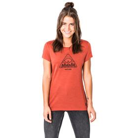 super.natural Print T-paita Naiset, bossa nova melange/jet black